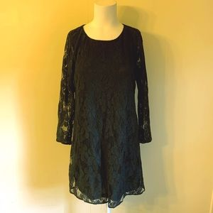 Show Me Your Mumu Black Lace Mini Tunic Dress